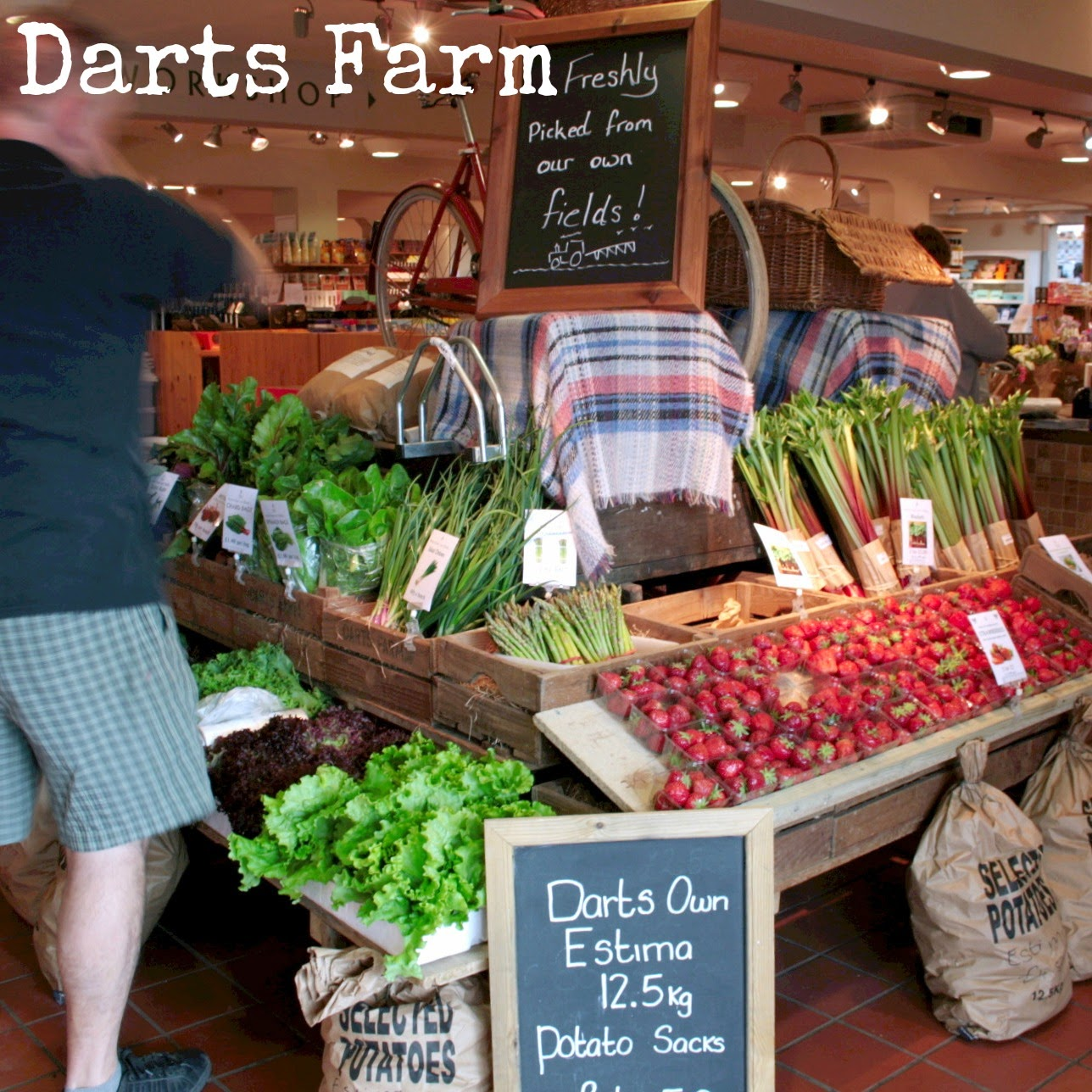 Another gem in the West Country - Darts Farm!  This is no ordinary farm shop with its extensive vegetable selection, pies and quiches, beautiful fresh meat (beef, pork, poultry) and every type of chutney, relish, jam, marmalade, sauce or condiment you could ever want - a lot of it from local suppliers here in Devon!