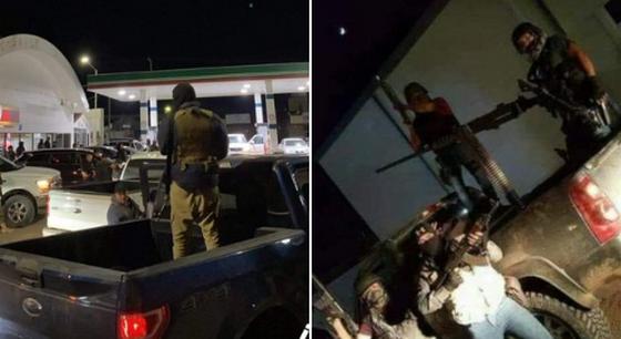 Vídeos, tras la ejecución del JJ, en convoy y bien armados llegan Sicarios del Chapito Guzmán a Magdalena de Kino; Sonora