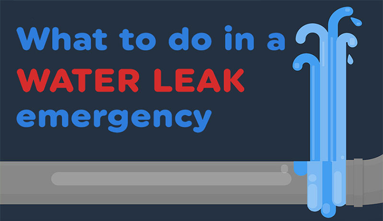 What To Do In A Water Leak Emergency? #infographic