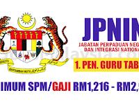 Jabatan Perpaduan Negara dan Integrasi National - Gaji RM1,216 - RM2,983