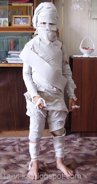 детский костюм на Хэллоуин своими руками Мумия