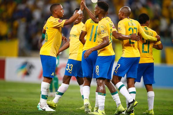 Mamelodi Sundowns Team celebrates