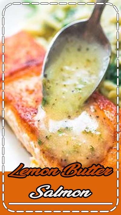 This Easy Lemon Butter Salmon recipe makes an elegant and delicious dinner. Seared in a skillet on the stove top and ready in under 20 minutes! FOLLOW Cooktoria for more deliciousness! #salmon #fish #seafood #lunch #dinner #keto #ketosis #lowcarb #cooktoria