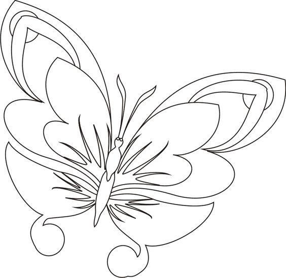 Tranh tô màu con bướm họa tiết đẹp