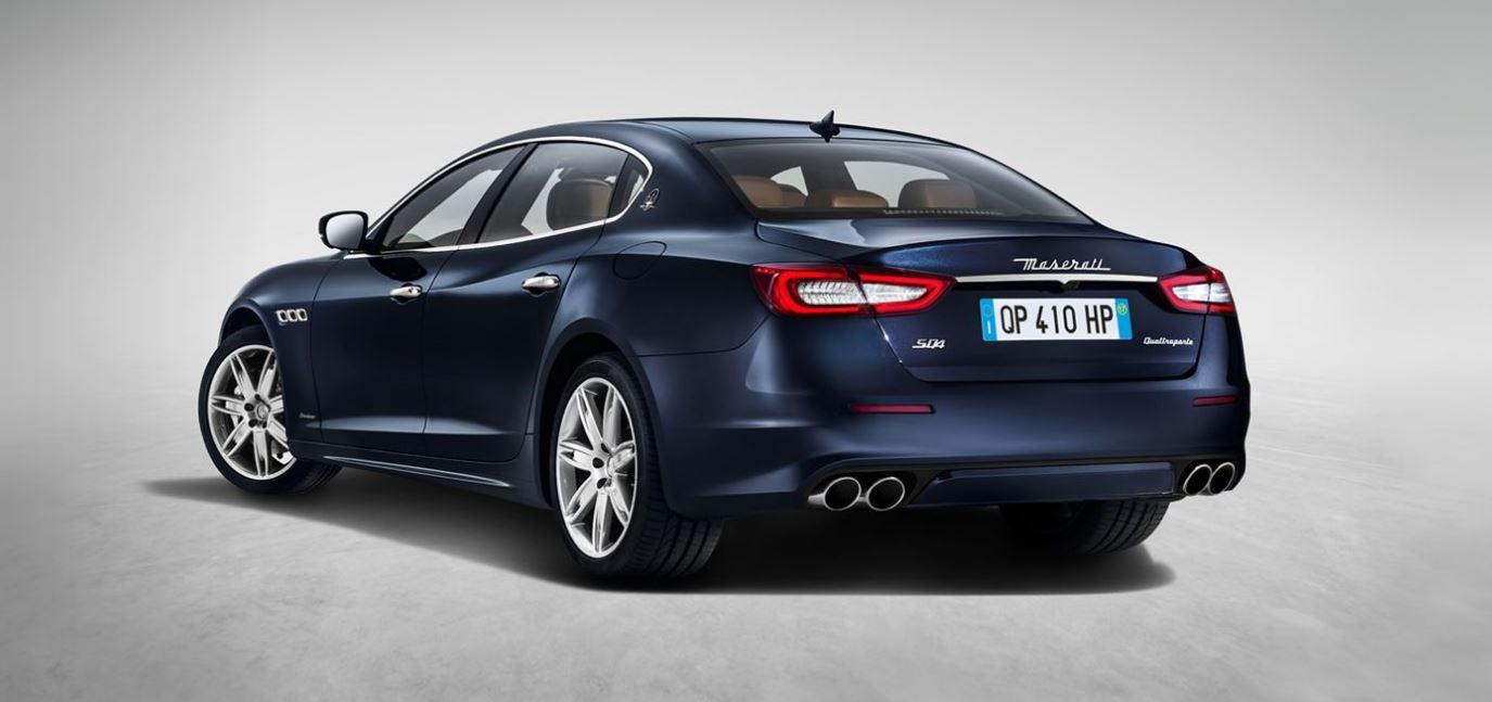 Bagagliaio Maserati Quattroporte: capacità volumetrica in litri