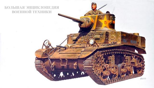 Легкий танк Light Tank M3/M5 General Stuart