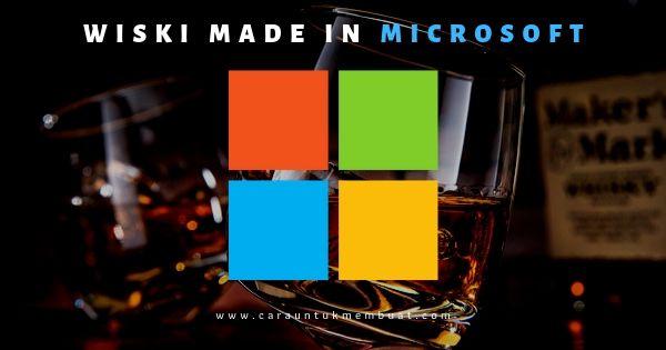 Microsoft Produksi Wiski Dengan Teknologi AI