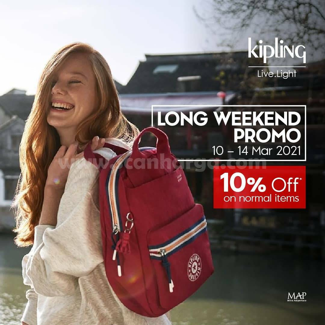 KIPLING LONG WEEKEND PROMO 10% Off on normal Items