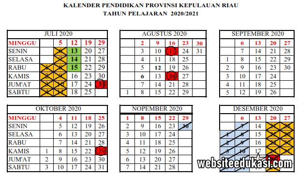 Kalender Pendidikan Kepulauan Riau Tahun 2020 2021 Websiteedukasi Com
