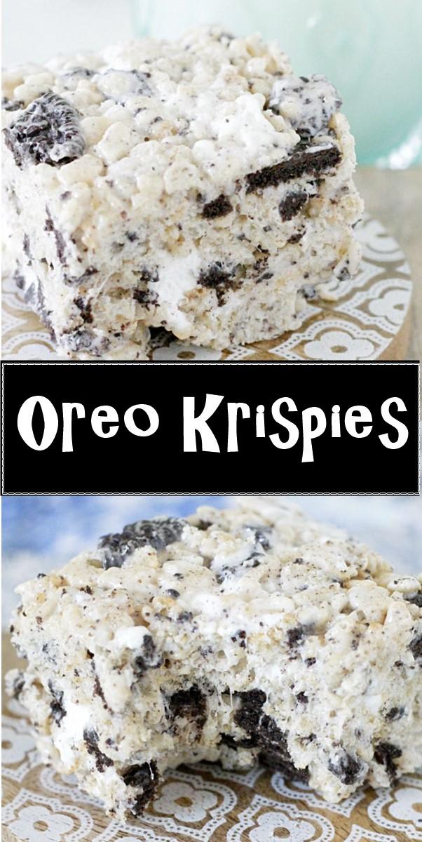 Oreo Krispies #dessertrecipes