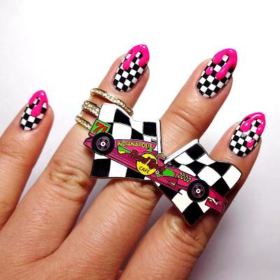 Checker Board Nails