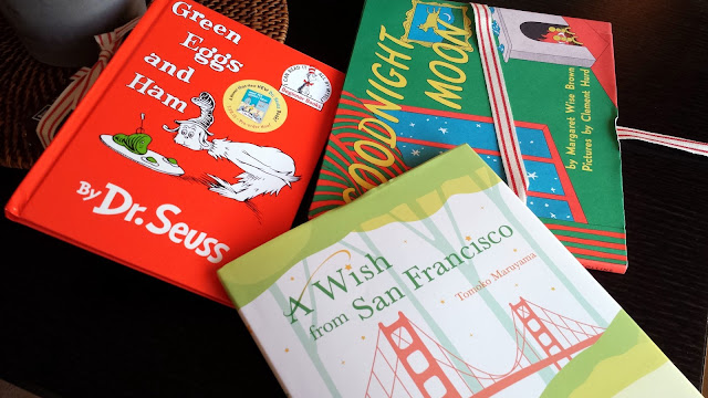 Green Eggs & Ham, Goodnight Moon, A Wish from San Francisco  |  Getting ready for the next generation of readers on afeathery*nest  |  http://afeatherynest.com