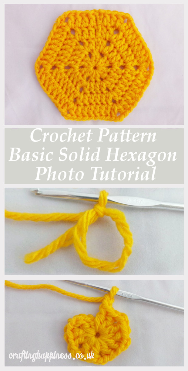 Crochet Pattern Basic Solid Hexagon Photo Tutorial Crafting Happiness