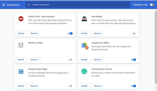 Chrome extension option