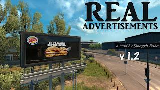 ETS 2 Real Advertisements 1.2, ETS 2 Real Advertisements Mod v1.2, ETS 2 Sinagrit Baba Mods