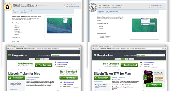 Bitcoin stealing Mac malware found to be hosted on Download.com and MacUpdate.com - E Hacking News
