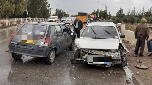 إصطدام 3 سيارات بمنطقة أولاد الطاهر ببوقادير