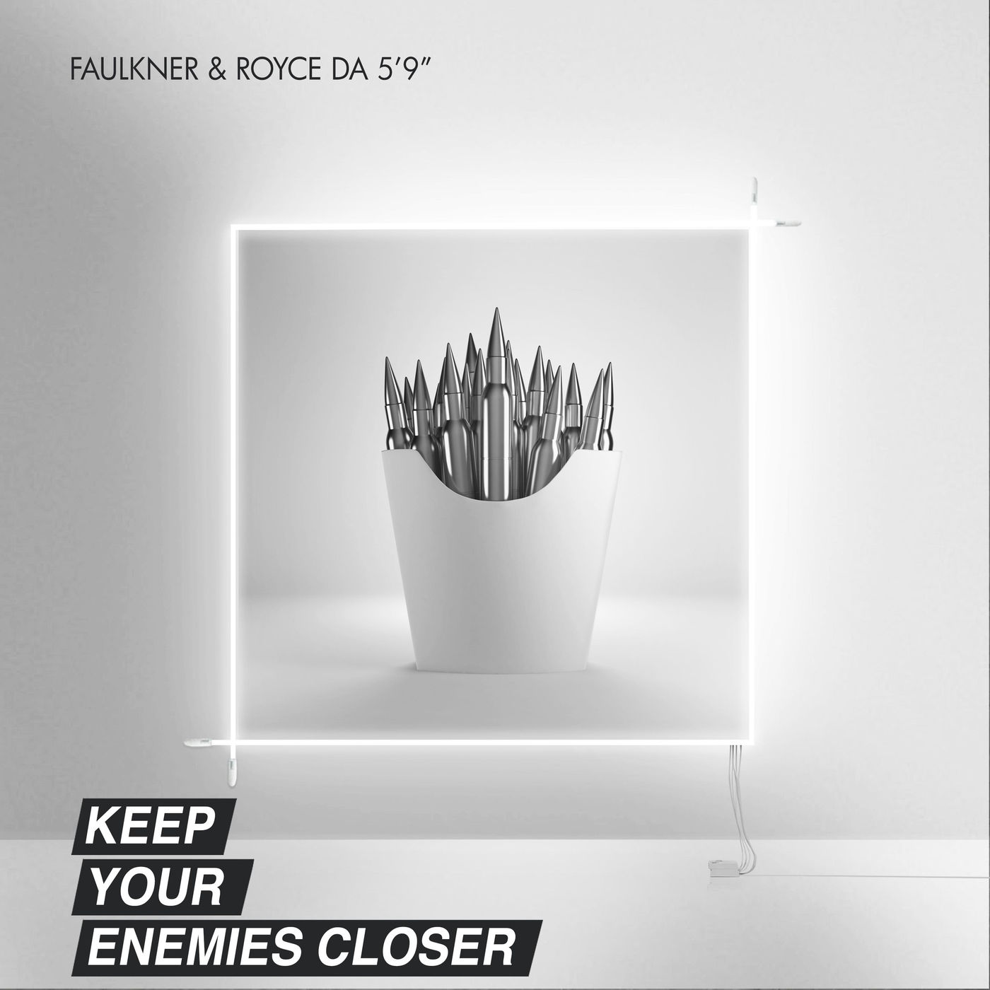 "Faulkner & Royce da 5'9"" - Keep Your Enemies Closer - Single Cover"