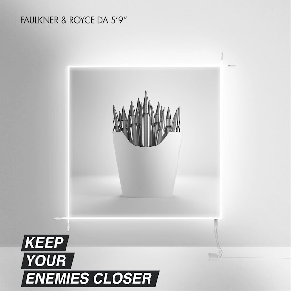 "Faulkner & Royce da 5'9"" - Keep Your Enemies Closer - Single Cover"