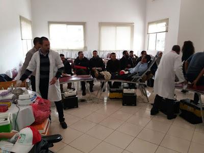 التبرع بالدم في مركز التوجيه والتخطيط التربوي