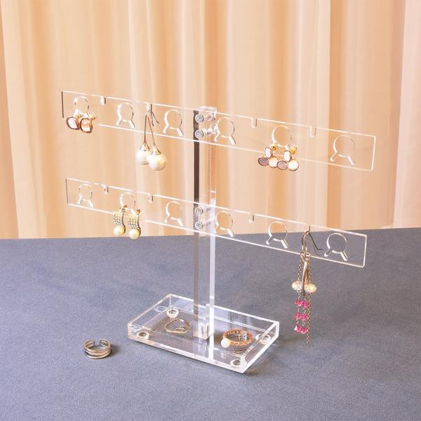 The Premium Acrylic 20 Pairs Earring Display Stand is ideal for craft shows | NileCorp.com