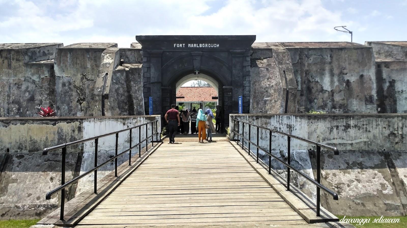 Gerbang masuk benteng fort marlborough