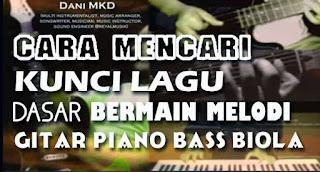 cara mencari kunci lagu, cara mencari chord lagu, cara menebak kunci lagu dengan gitar, piano keyboard, bass
