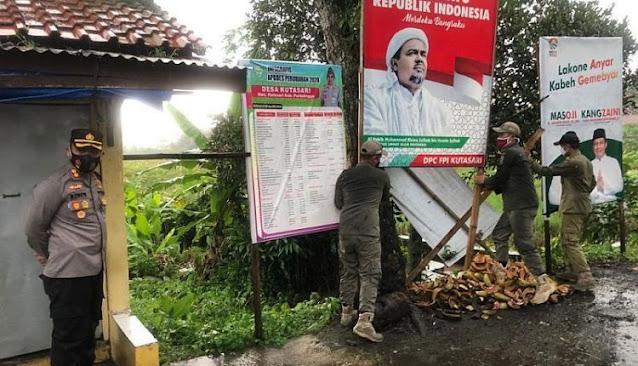Warga: Kami Pasang Baliho Habib Rizieq di Titik yang Tak Ganggu Ketertiban Umum