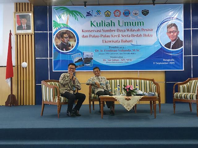 IKL UNIB | Dr. Fredinan Yulianda Kuliah Umum Konservasi Sumberdaya Hayati Laut dan Bedah Buku Ekowisata Bahari  di Prodi Ilmu Kelautan Unib