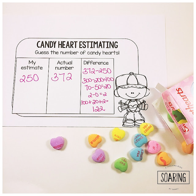 Do you have lots of left over candy hearts from Valentine's Day and aren't sure what to do with them? Here are some quick and easy ideas on ways you can use them for math review in your classroom! Free recording sheets included!