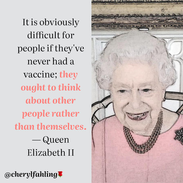 It is obviously difficult for people if they've never had a vaccine; they ought to think about other people rather than themselves. — Queen Elizabeth II