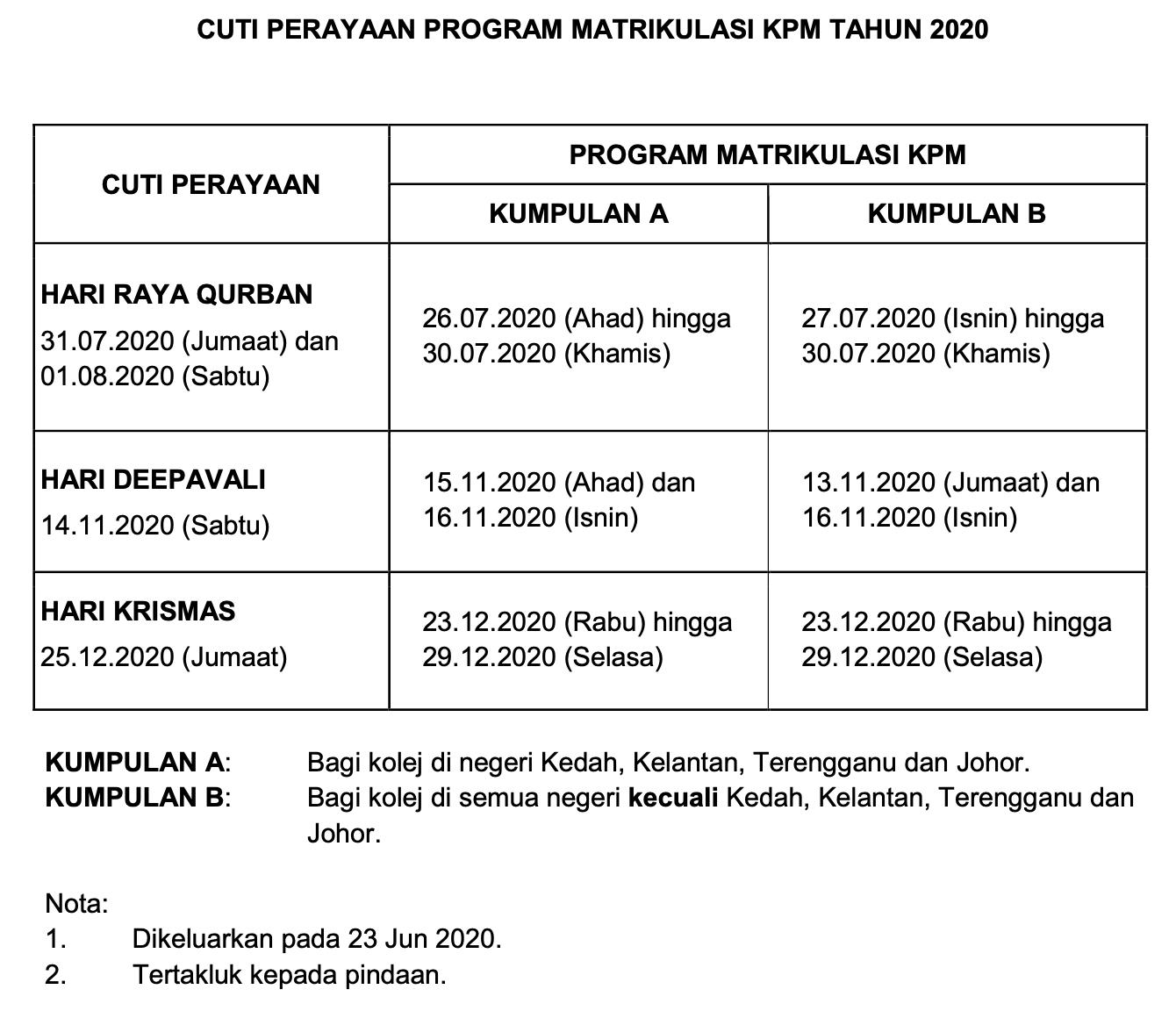 kalender akademik 2020/2021