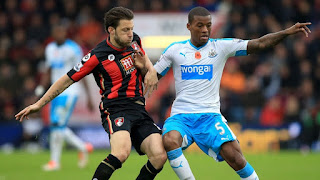 Newcastle vs Bournemouth live stream Saturday 04 November 2017 England - Premier League