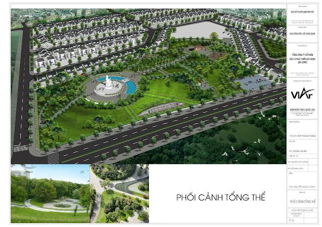 Toàn cảnh đồi cảnh quan Khu đô thị Nam Vĩnh Yên