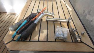 Die neuen Teile aus Edelstahl - fertig zum Einbauen