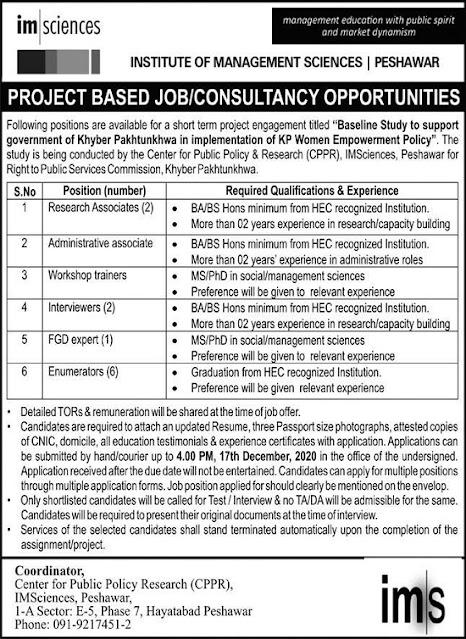 institute-of-management-sciences-ims-peshawar-jobs-2020-advertisement