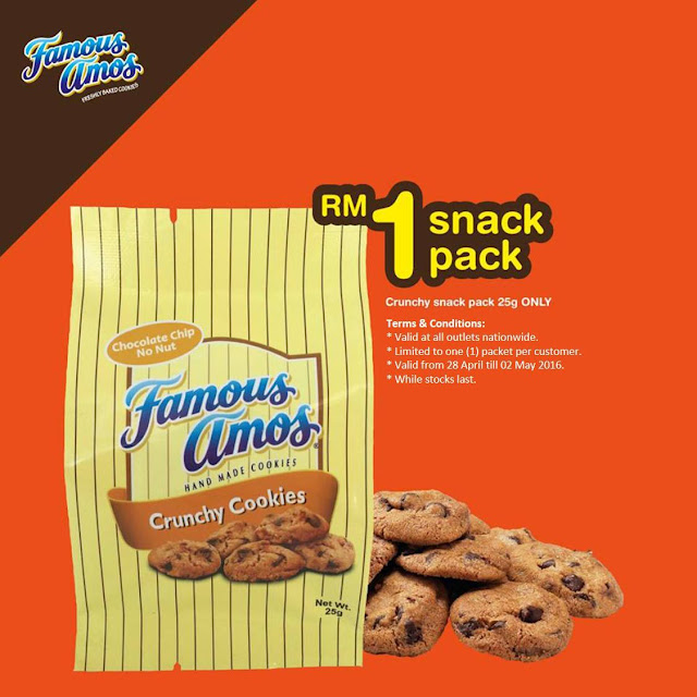 Famous Amos Malaysia RM1 Snack Pack Crunchy Cookies