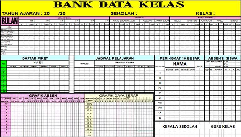 Download Bank Data Kelas Terbaru Dengan Format Microsoft Excel