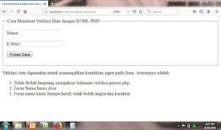 Cara Membuat Validasi Form dengan PHP dan HTML
