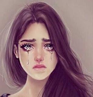 صورة بنت كروتون تبكي ، صور بنات كرتونية حزينة