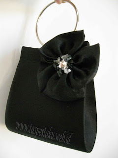 Clutch Bag Black Hitam Tas Pesta