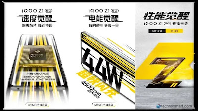 iqoo z1 5g launch