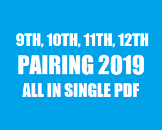 Matriculation(I & II) , FSc. & Matric Part-1 and Part-2 Pairing Scheme (2019) of All Subjects in single Pdf - TALEEM 360