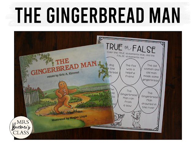 Gingerbread Man book study unit with Common Core aligned companion activities, craftivity, and class book for Kindergarten and First Grade
