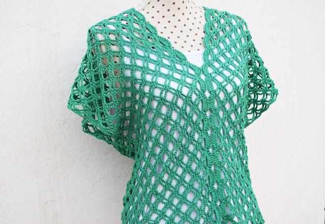 3 - Crochet Imagen Blusa verde de verano a crochet y ganchillo por Majovel Crochet