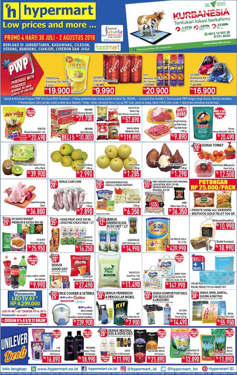 Hypermart - Katalog Promo Periode 30 Juli - 02 Agustus 2018