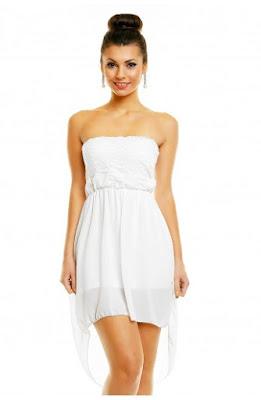 rochie-alba-asimetrica-fara-bretele