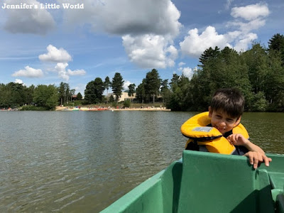 Pedalo on the lake at Center Parcs
