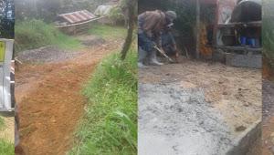 Proyek Jalan di Lembang Marante Toraja Utara Dikerja Asal-asalan