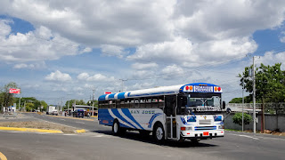Schoolbus of USA in Nicaragua